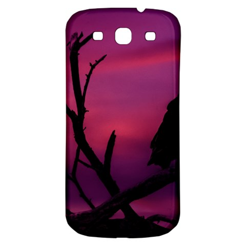Vultures At Top Of Tree Silhouette Illustration Samsung Galaxy S3 S III Classic Hardshell Back Case