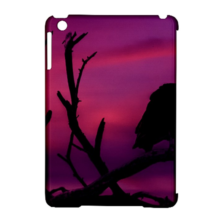 Vultures At Top Of Tree Silhouette Illustration Apple iPad Mini Hardshell Case (Compatible with Smart Cover)