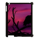 Vultures At Top Of Tree Silhouette Illustration Apple iPad 3/4 Case (Black) Front