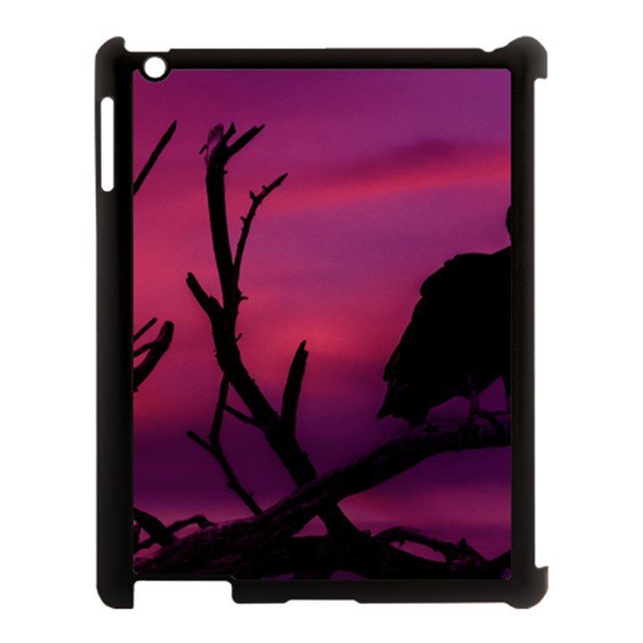 Vultures At Top Of Tree Silhouette Illustration Apple iPad 3/4 Case (Black)