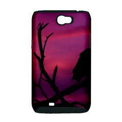 Vultures At Top Of Tree Silhouette Illustration Samsung Galaxy Note 2 Hardshell Case (PC+Silicone)
