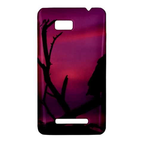 Vultures At Top Of Tree Silhouette Illustration HTC One SU T528W Hardshell Case