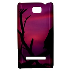 Vultures At Top Of Tree Silhouette Illustration HTC 8S Hardshell Case