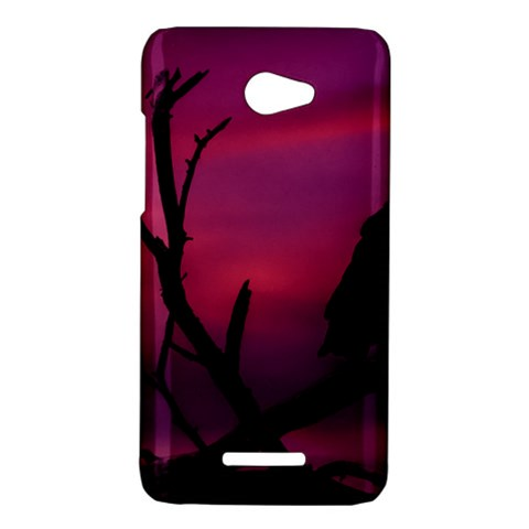 Vultures At Top Of Tree Silhouette Illustration HTC Butterfly X920E Hardshell Case
