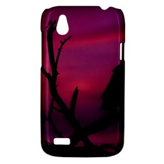 Vultures At Top Of Tree Silhouette Illustration HTC Desire V (T328W) Hardshell Case