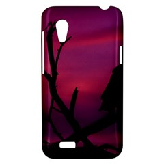 Vultures At Top Of Tree Silhouette Illustration HTC Desire VT (T328T) Hardshell Case