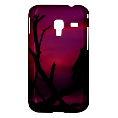 Vultures At Top Of Tree Silhouette Illustration Samsung Galaxy Ace Plus S7500 Hardshell Case