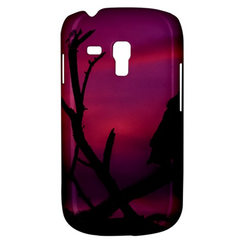 Vultures At Top Of Tree Silhouette Illustration Samsung Galaxy S3 MINI I8190 Hardshell Case