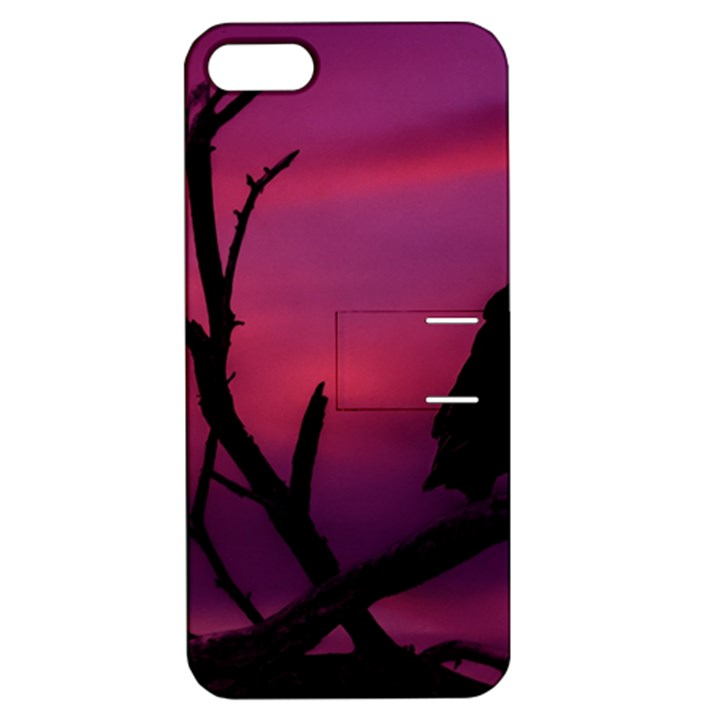 Vultures At Top Of Tree Silhouette Illustration Apple iPhone 5 Hardshell Case with Stand