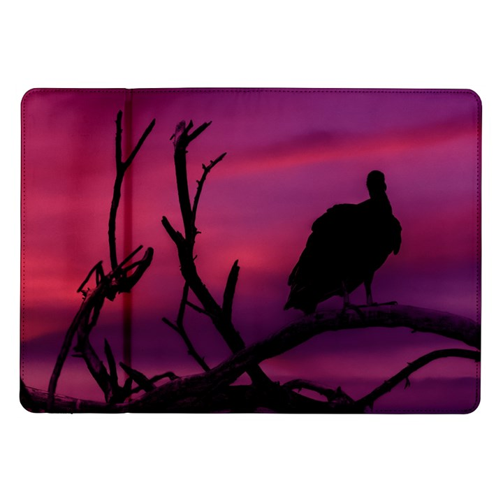 Vultures At Top Of Tree Silhouette Illustration Samsung Galaxy Tab 10.1  P7500 Flip Case