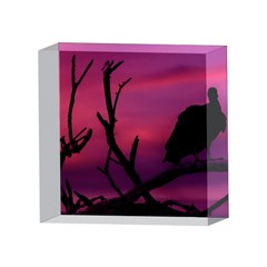 Vultures At Top Of Tree Silhouette Illustration 4 x 4  Acrylic Photo Blocks