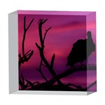 Vultures At Top Of Tree Silhouette Illustration 5  x 5  Acrylic Photo Blocks Front