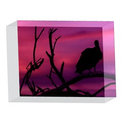 Vultures At Top Of Tree Silhouette Illustration 5 x 7  Acrylic Photo Blocks