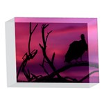 Vultures At Top Of Tree Silhouette Illustration 5 x 7  Acrylic Photo Blocks Front