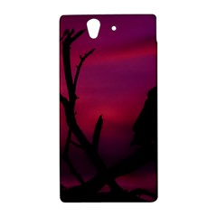 Vultures At Top Of Tree Silhouette Illustration Sony Xperia Z