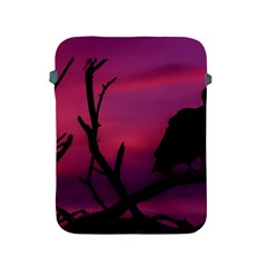 Vultures At Top Of Tree Silhouette Illustration Apple Ipad 2/3/4 Protective Soft Cases