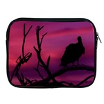 Vultures At Top Of Tree Silhouette Illustration Apple iPad 2/3/4 Zipper Cases Front