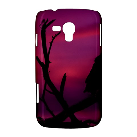 Vultures At Top Of Tree Silhouette Illustration Samsung Galaxy Duos I8262 Hardshell Case