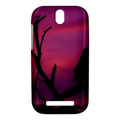 Vultures At Top Of Tree Silhouette Illustration HTC One SV Hardshell Case