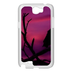 Vultures At Top Of Tree Silhouette Illustration Samsung Galaxy Note 2 Case (White)