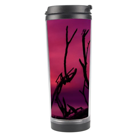 Vultures At Top Of Tree Silhouette Illustration Travel Tumbler