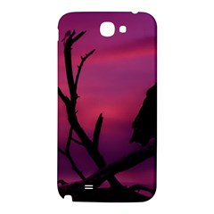 Vultures At Top Of Tree Silhouette Illustration Samsung Note 2 N7100 Hardshell Back Case