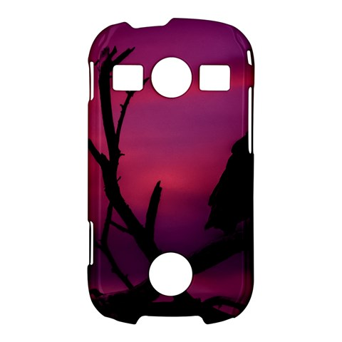 Vultures At Top Of Tree Silhouette Illustration Samsung Galaxy S7710 Xcover 2 Hardshell Case