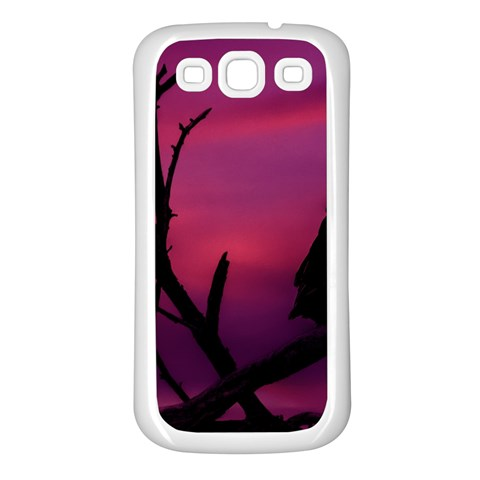 Vultures At Top Of Tree Silhouette Illustration Samsung Galaxy S3 Back Case (White)