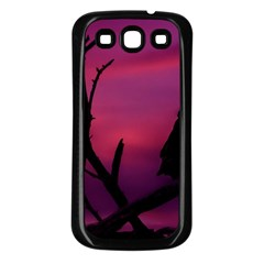 Vultures At Top Of Tree Silhouette Illustration Samsung Galaxy S3 Back Case (Black)