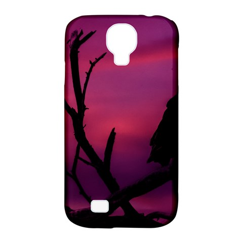 Vultures At Top Of Tree Silhouette Illustration Samsung Galaxy S4 Classic Hardshell Case (PC+Silicone)