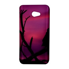 Vultures At Top Of Tree Silhouette Illustration HTC Butterfly S/HTC 9060 Hardshell Case