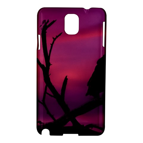 Vultures At Top Of Tree Silhouette Illustration Samsung Galaxy Note 3 N9005 Hardshell Case