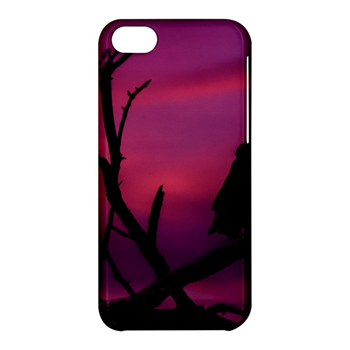Vultures At Top Of Tree Silhouette Illustration Apple iPhone 5C Hardshell Case