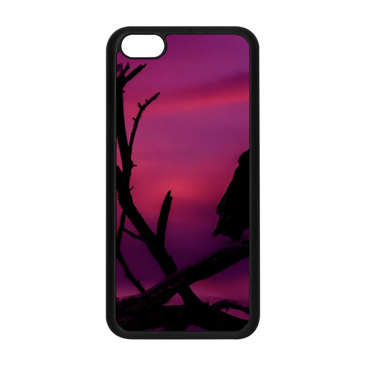 Vultures At Top Of Tree Silhouette Illustration Apple iPhone 5C Seamless Case (Black)