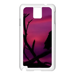Vultures At Top Of Tree Silhouette Illustration Samsung Galaxy Note 3 N9005 Case (White)