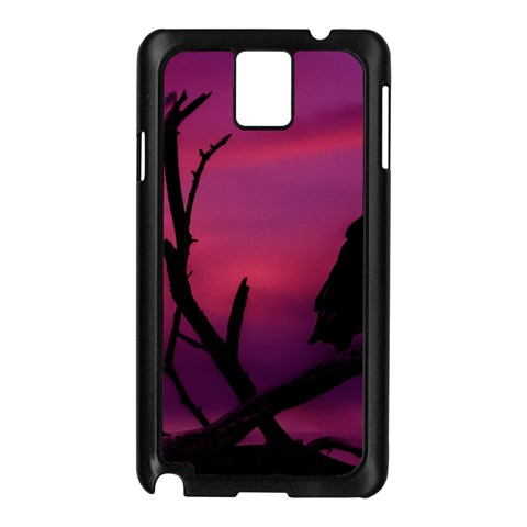 Vultures At Top Of Tree Silhouette Illustration Samsung Galaxy Note 3 N9005 Case (Black)