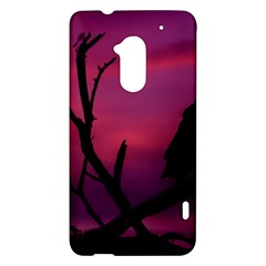 Vultures At Top Of Tree Silhouette Illustration HTC One Max (T6) Hardshell Case