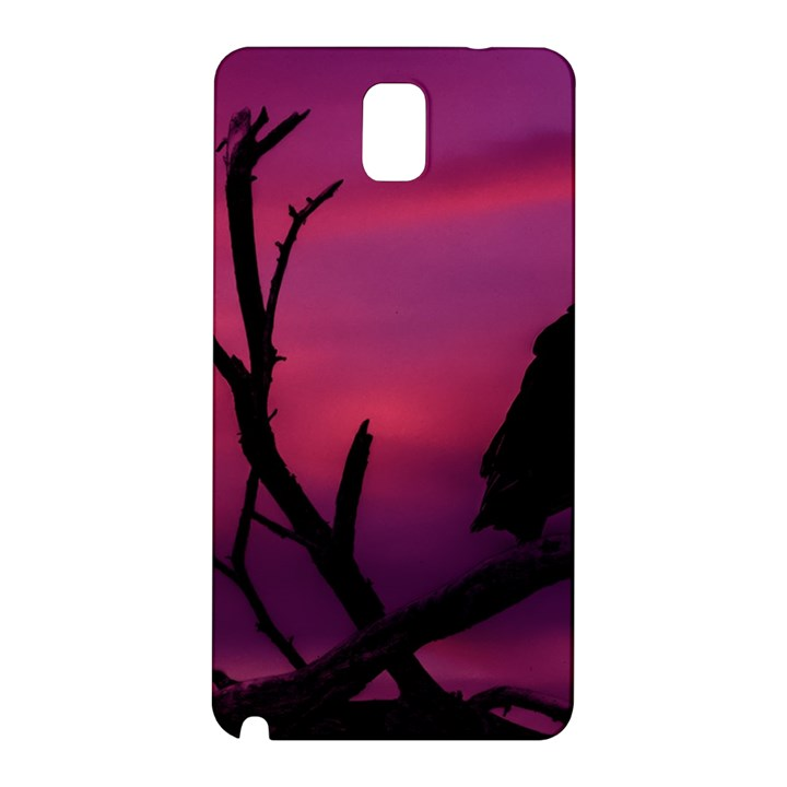 Vultures At Top Of Tree Silhouette Illustration Samsung Galaxy Note 3 N9005 Hardshell Back Case