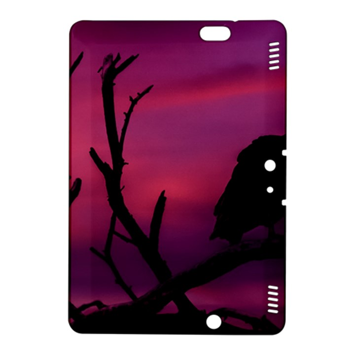 Vultures At Top Of Tree Silhouette Illustration Kindle Fire HDX 8.9  Hardshell Case