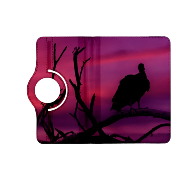 Vultures At Top Of Tree Silhouette Illustration Kindle Fire HD (2013) Flip 360 Case