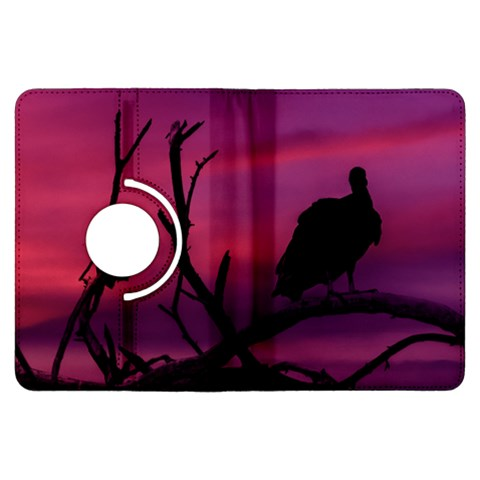 Vultures At Top Of Tree Silhouette Illustration Kindle Fire HDX Flip 360 Case