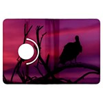 Vultures At Top Of Tree Silhouette Illustration Kindle Fire HDX Flip 360 Case Front