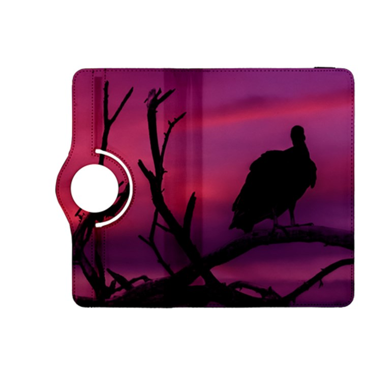 Vultures At Top Of Tree Silhouette Illustration Kindle Fire HDX 8.9  Flip 360 Case