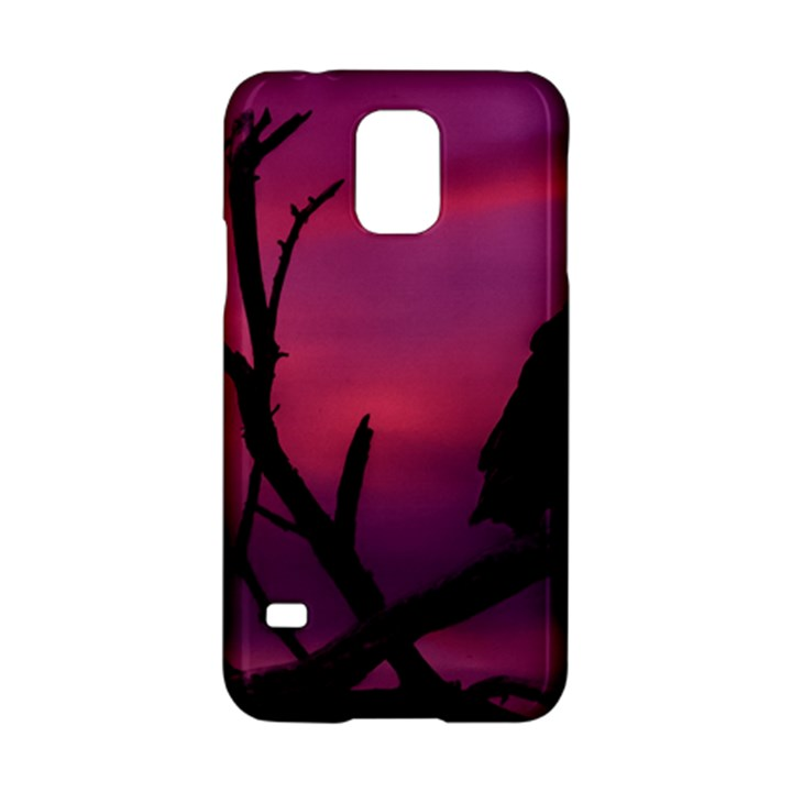 Vultures At Top Of Tree Silhouette Illustration Samsung Galaxy S5 Hardshell Case