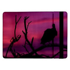Vultures At Top Of Tree Silhouette Illustration Samsung Galaxy Tab Pro 12 2  Flip Case