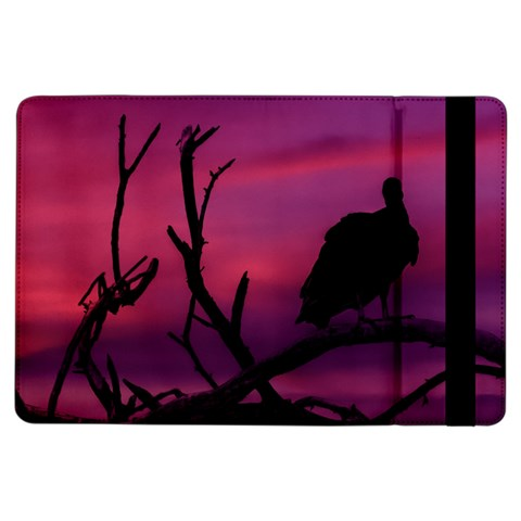 Vultures At Top Of Tree Silhouette Illustration iPad Air Flip