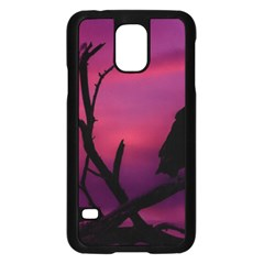 Vultures At Top Of Tree Silhouette Illustration Samsung Galaxy S5 Case (Black)
