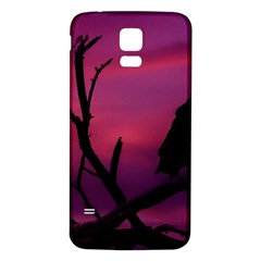 Vultures At Top Of Tree Silhouette Illustration Samsung Galaxy S5 Back Case (White)