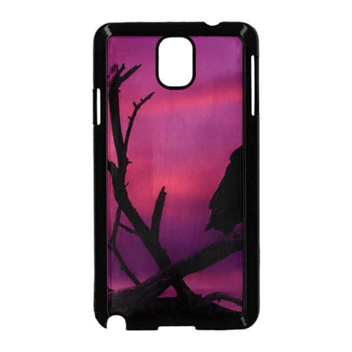 Vultures At Top Of Tree Silhouette Illustration Samsung Galaxy Note 3 Neo Hardshell Case (Black)