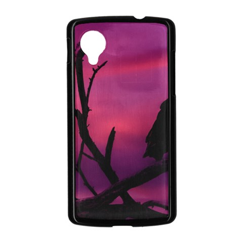 Vultures At Top Of Tree Silhouette Illustration Nexus 5 Case (Black)